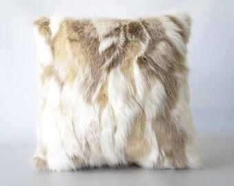16x16 faux fur pillow cover faux fur 16x16 fox fake fur pillow cover