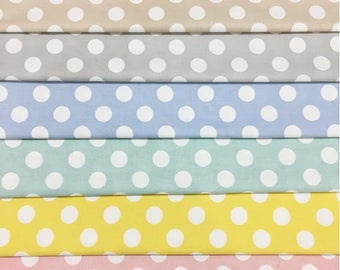 Organic Cotton Fun Dots Fitted Sheet, Baby Fitted Sheet, Baby Bedding, Nursery Bedding