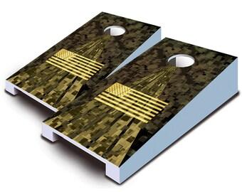 American Digital Camo Tabletop Cornhole Board Set.