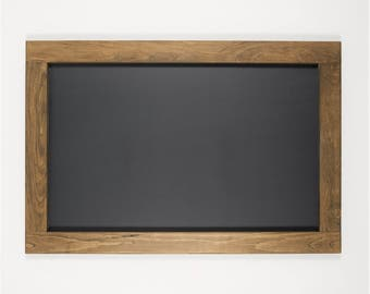 "Large Chalkboard with Natural Pine Frame | Custom Stain and Custom Color Options | 24"" x 36"""