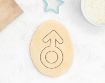 Male Gender Cookie Cutter – Female Gender Sign Fondant Cutter LGBT Women Female Symbol Cookie Cutter Baby Party – 3D Printed