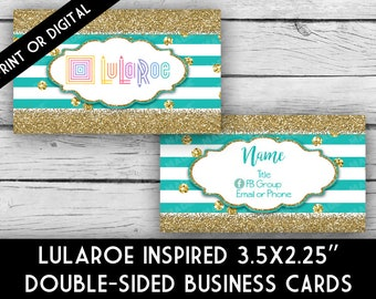 Printed LuLaRoe Inspired Double-Sided BUSINESS Cards - STRIPES, Business Cards, Marketing Tools, Calling Cards, Business Stationery