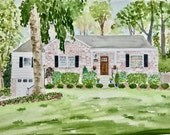 First Anniversary gift, Husband gift, Paper anniversary, Custom house portrait, Home Illustration, watercolor house painting, House sketch