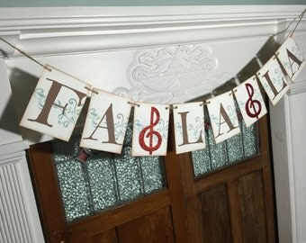 Rustic Christmas Banner, Fa La La Banner, Fa La La Sign, Mantle Decoration, Christmas Photo Prop