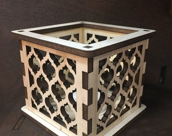 Moroccan Trellis Quatrefoil - Tea Light Holder