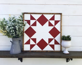 Moonlight Star Barn Quilt