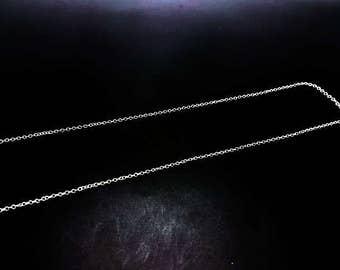5 m silver 2x1.5mm mesh convict chain