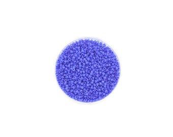 5 grams of beads Miyuki Delica 11/0 blue Cyan Opaque