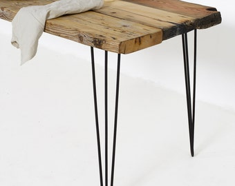 Industrial Dining Table, Reclaimed Wood Table set on Sturdy Hairpin Table Legs, Wood Furniture made in Berlin