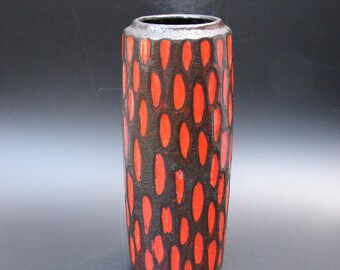 Sixties Scheurich Fat lava vase vintage German ceramics