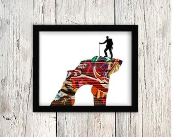 Graffiti art, Rock Climbing, Mountain Climbing, Mountain Climber,Rock Climbing Wall Art,Mountaineering Poster,Climbing Poster,Climbing Print
