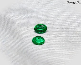 1.54ct Top Quality Oval Emerald pair Loose