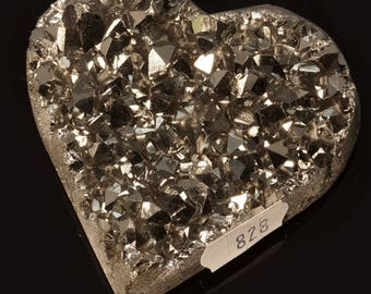 Titanium Aura Quartz Crystal Heart 5.6 oz. A-828
