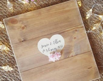 Wedding guest board  (made to order in various sizes)