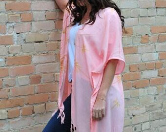 Baby Pink Bamboo Kimono