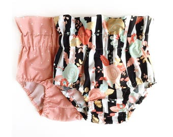 Floral Baby Bloomers, High Waist Bloomers, Baby Bloomers, Baby Shorts, Toddler Bloomers, Toddler Shorts, Floral Bloomers, Floral Shorts