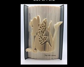Cut & Fold Book Folding PATTERN~ Fairy, measure cut and fold