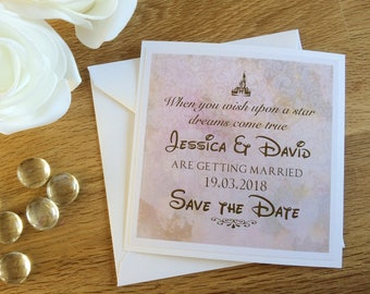 Save the Date card printable or prints Disney themed