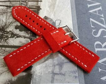 Italian Suede Watch Strap - Handmade 01