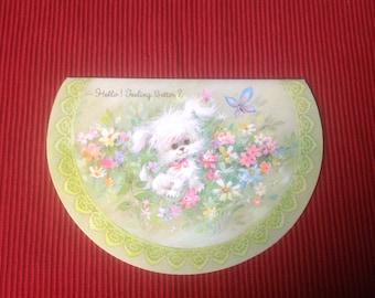 Vintage Get well card ( Unused )