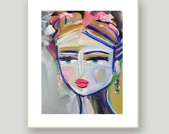 Abstract Portrait PRINT,  medium, woman portrait, Abstract Girl