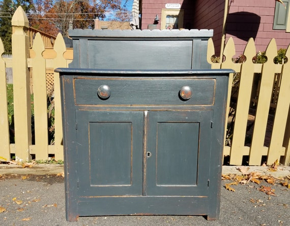 Hand Painted Antique Wash Stand - LOCAL PICKUP / DELIVERY Only