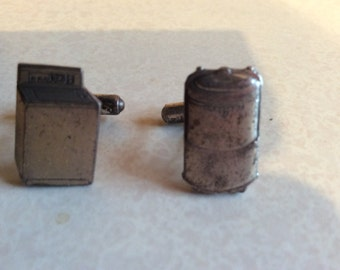 Cufflinks ,rare! Washing machine and boiler .USA 1950s.