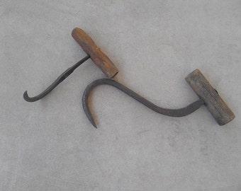 Set of Two Vintage Bale Hooks