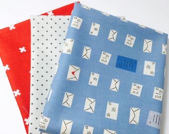 Fat Quarter Bundle S.S Bluebird Cotton and Steel Collaboration 3 Fabrics