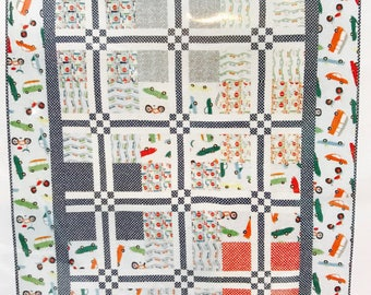 "Crossroads Quilt Kit using Wheels 2 by Deena Rutter for Riley Blake Designs- Finished Size 52"" x 64"""