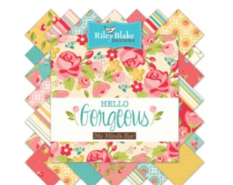"""10"""" Stacker Hello Gorgeous by My Minds Eye For Riley Blake Designs - 42 Fabrics"""