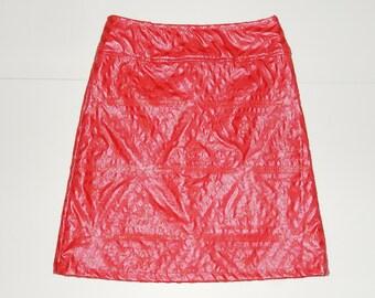 Red sequins skirt, A-line skirt, size EU 38/40 (USA 8/10 - UK 10/12), lining, zipper