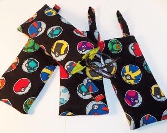 Eye Glasses Cases/ Geeky Eye Glass Cases Pokeballs Pokemon Inspired /Handmade/Eye Glass Pouch/Glasses Holder