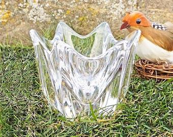 """Vintage Orrefors Sweden Crystal 'Belle' Bowl 4"""" Jan Johansson Six Sided / Tulip Shape Candy Treat Bowl #4540/11 MSRP 75.00 USD"""