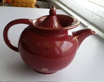 Hall Windshield Teapot -Burgundy