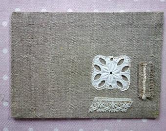 pretty lace corner card