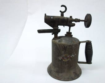 1940s-1950s era blowtorch. Decorative item, not intended to be used as a blowtorch