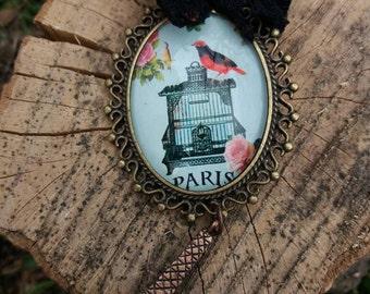 Beautiful  necklace Eiffel tower , i love Paris , gift for her ,  eiffel tower necklace, paris jewelry, vintige necklace, vintige jewelry