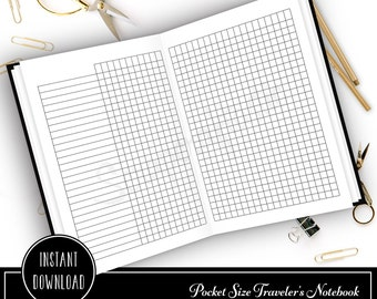 Habit Tracker Pocket Size Traveler's Notebook Printable Planner Inserts