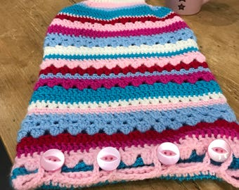 2l Hot Water Bottle and crochet cover