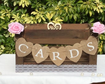 Wedding cards crate, Wedding cards suitcase,wedding card holder cards bunting