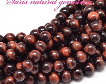 Natural Red Tiger Eye Round Bead,grade AAA,UnDyed & Heated Size:about 10 mm,12mm in diameter,hole 1mm.