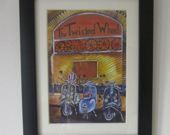 Scooters at the Wheel, Mounted and Framed