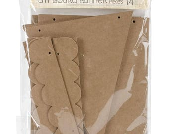 Julie Nutting Mixed Media Chipboard Shapes - Banner