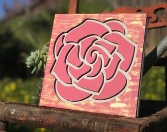 Laser cut, flower, floral, flower sign, wood sign, wood decor, Mother's Day