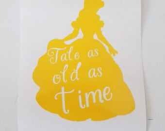Beauty and the Beast Belle Vinyl Decal