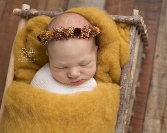 Goldenrod Farm Fluff - mustard wool batting - newborn photo prop - cloud layer - stuffer