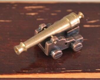 Brass canon,miniature,perfect decor for dollhouse 1/12...1/6