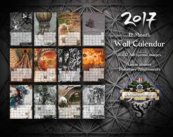 2017 Wall Calendar of Artwork from andyvanoverberghe