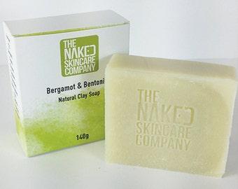 Bergamot & Bentonite Clay Natural Soap//Essential Oils//Cold Process Soap